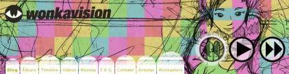 Header para o site da banda Wonkavision